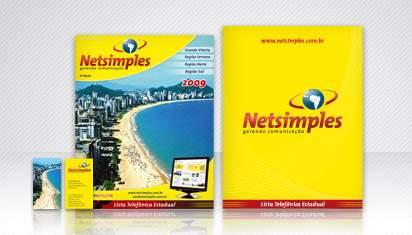 Cliente NetSimples – Capa da Lista Telefônica 2009 e Papelaria
